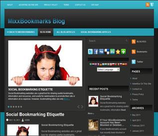 Portfolio: MixxBoomarks Blog