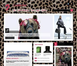Animal Cruelty Free Products.com Website - Best Cheap Website Design Portfolio
