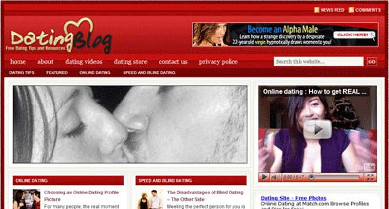 Turnkey Website - Dating Niche Blog Website