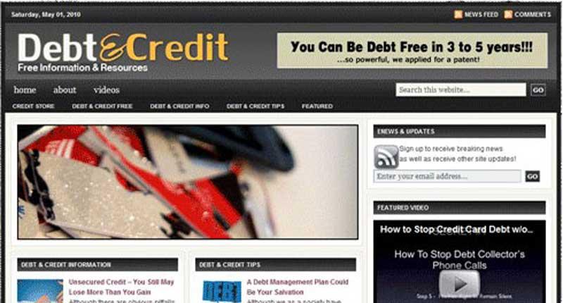 Turnkey Website - Debt & Credit Blog Website