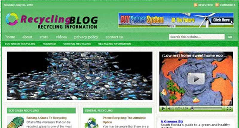 Turnkey Websites - Recycling Niche Blog Website