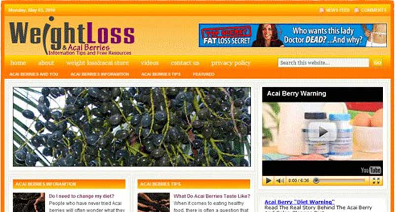 Turnkey Websites - Acai Berries Weight loss