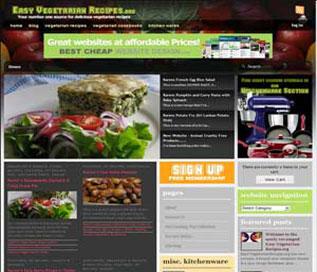 Portfolio: EasyVegetarianRecipes.org