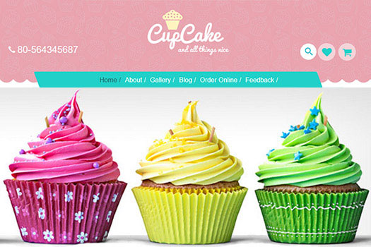 Cup Cake - Food / Restaurant Niche Themes