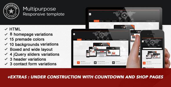 Corportase - Multipurpose Responsive HTML