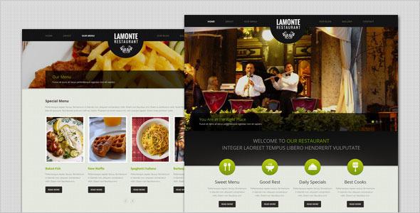 LaMonte - Restaurant Theme