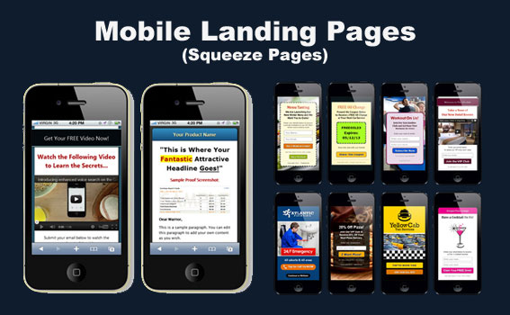 Mobile Landing Pages / Squeeze pages