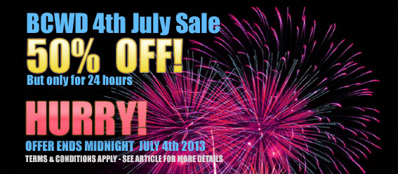 Fourth July Sale -Promo - get 50% off many services until midnight