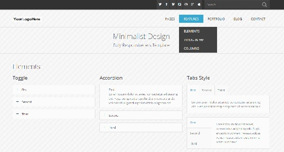 Minimal Multipurpose Template (HTML)