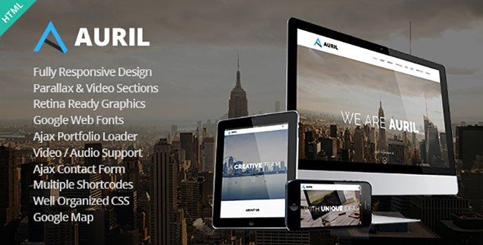 Auril HTML Template - HTML Website