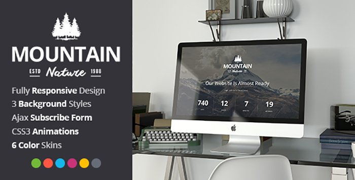 Mountain HTML Template - HTML Website