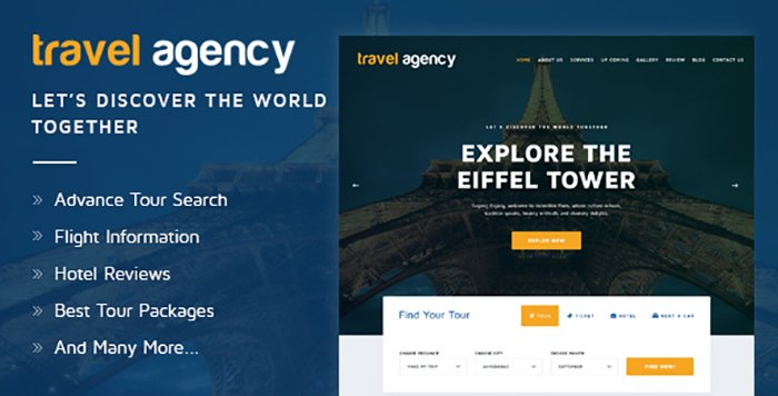 Travel Agency - HTML Templates - HTML Website