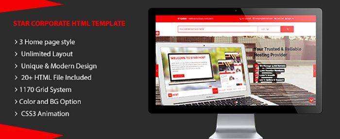 Star Host HTML Templates - HTML Website