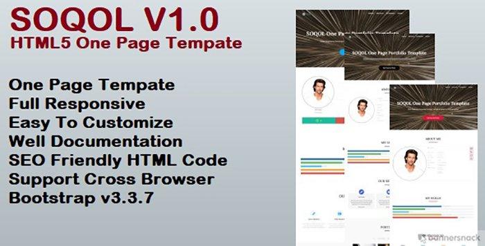 Soqol HTML Template - HTML Website
