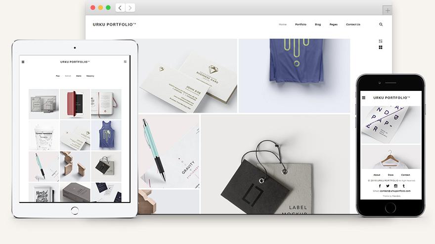 URKU Portfolio HTML Template - HTML Websites