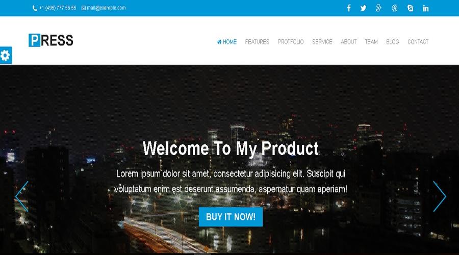 Press HTML Templates - HTML Website