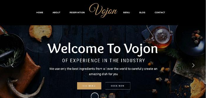 Vojon - Food / Restaurant Niche Themes