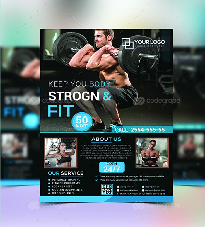 business flyers - gym fitness flyer 1
