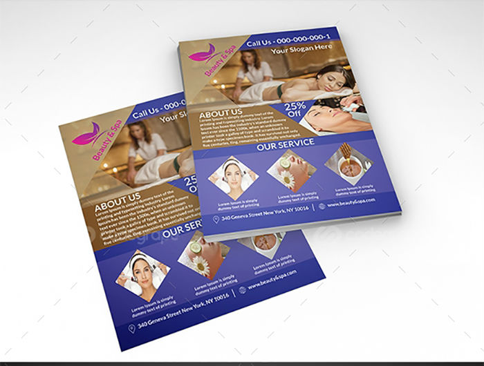 business flyers - spa flyer 3