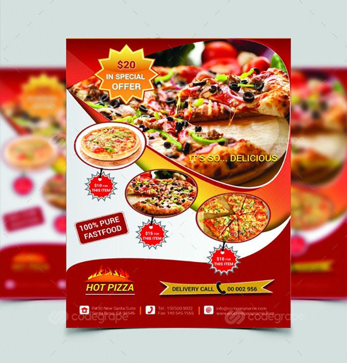 business flyers - food restaurant flyer 1