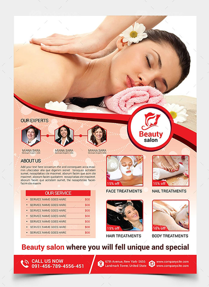 business flyers - spa flyer 1