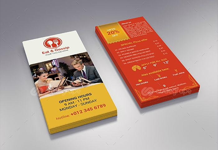 business flyers - food restaurant flyer 4 - double sidedflyer