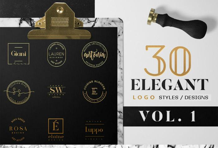 Metallic logo designs - Vol, 1