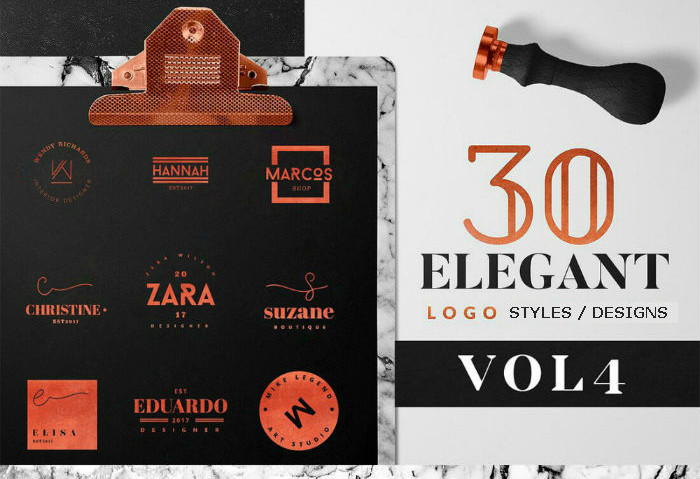 Metallic logo designs - Vol. 4