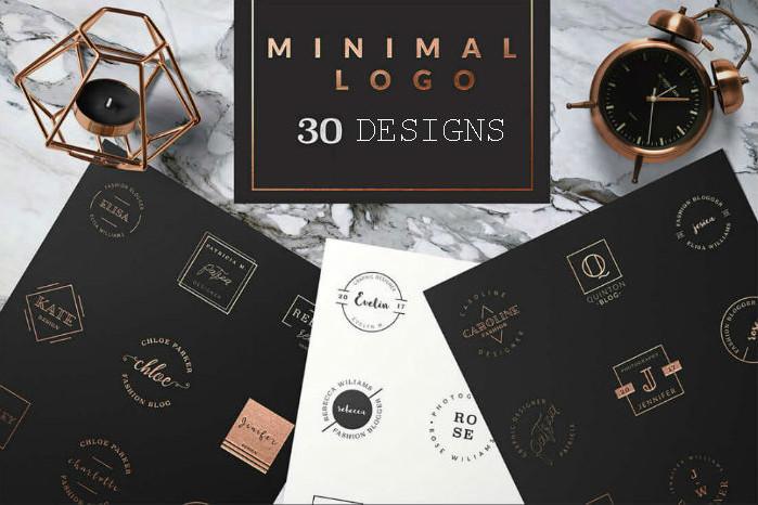 Metallic logo designs - Minimal Logo
