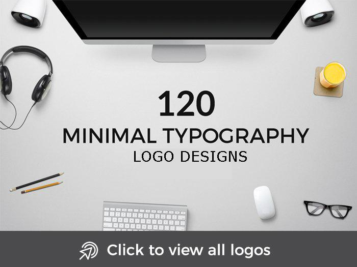 minimal typography logo designs