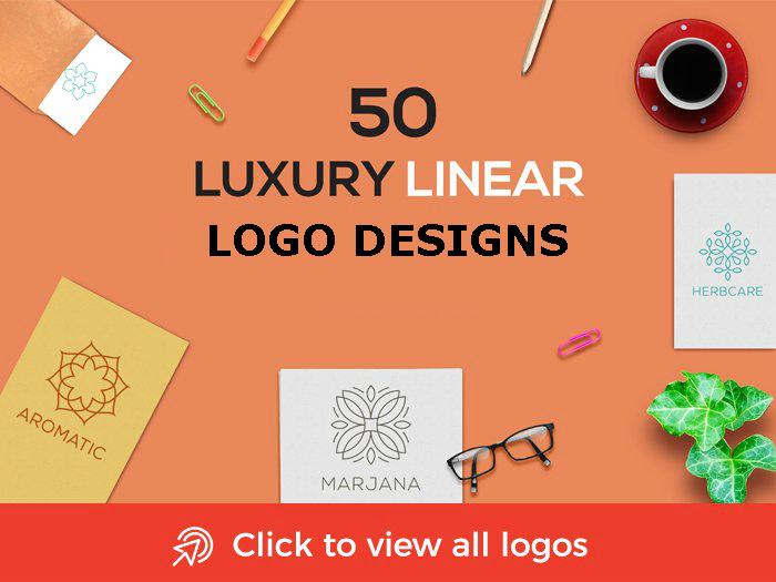 luxury linear logo designs
