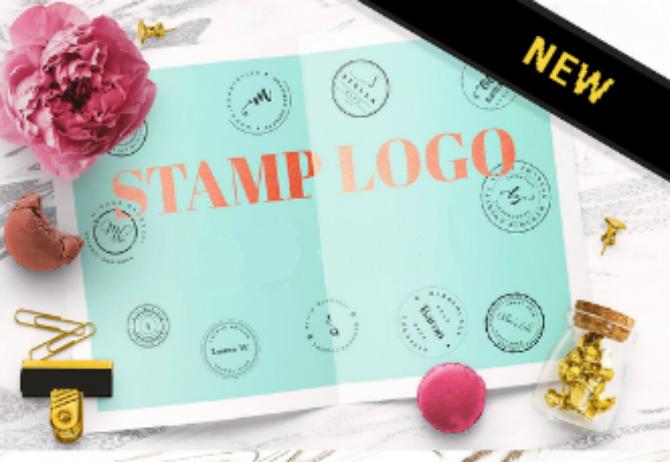 Metallic logo designs - Stamp Logo