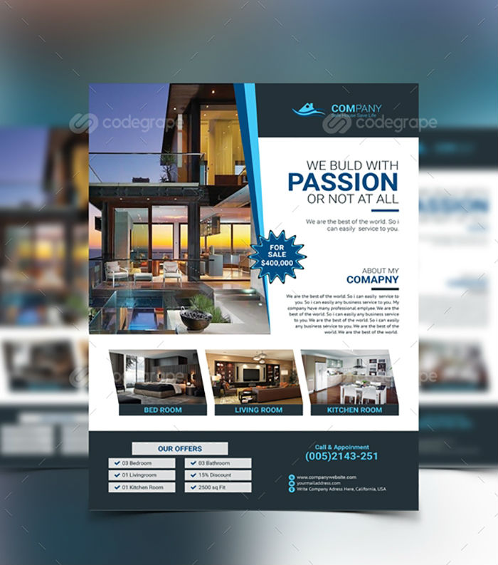 business flyers - real estate flyer 1