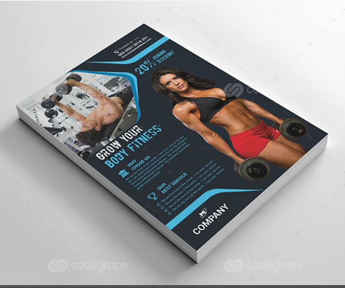 business flyers - gym fitness flyer 2