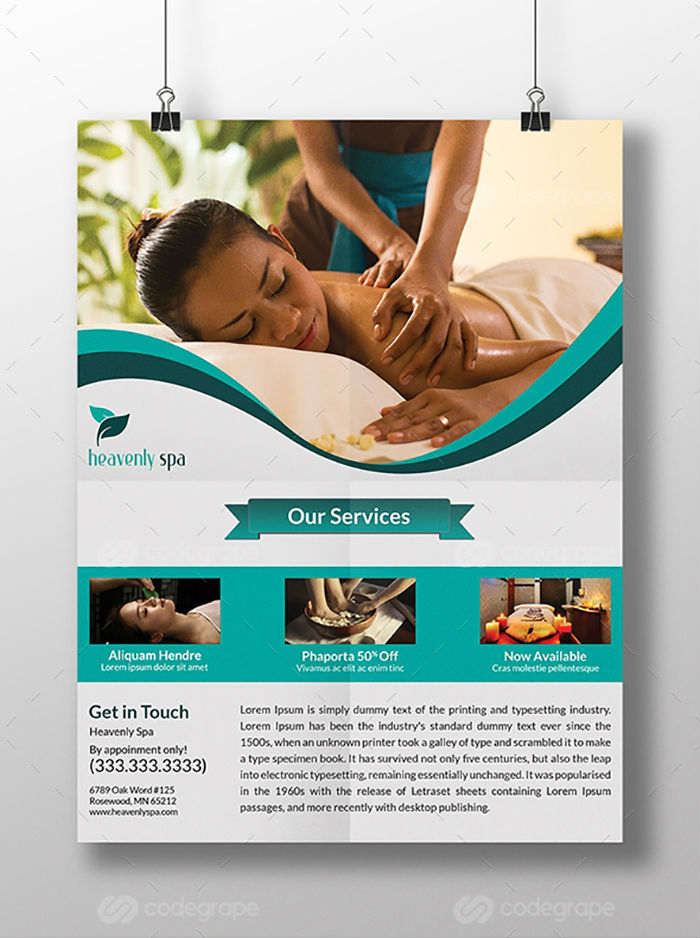 business flyers - spa flyer 2