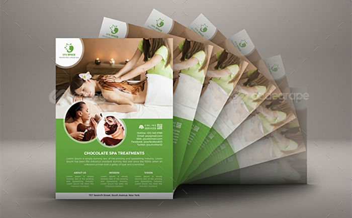 business flyers - spa flyer 4