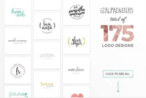 Feminine Deluxe Logo Designs - Girlpreneurs logo range