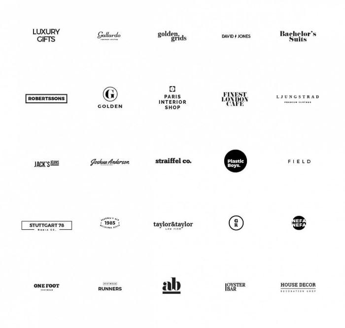 Minimal Typography Logo Designs - Modern Logo Designs
